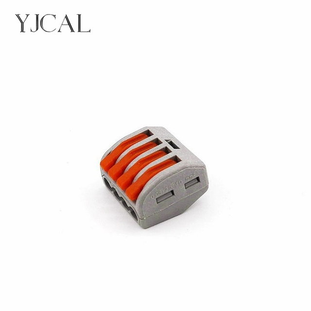 Terrific Yjcal Wago Wire Connector 222 414 10Pcs Cage Spring Universal Fast Wiring Digital Resources Operbouhousnl