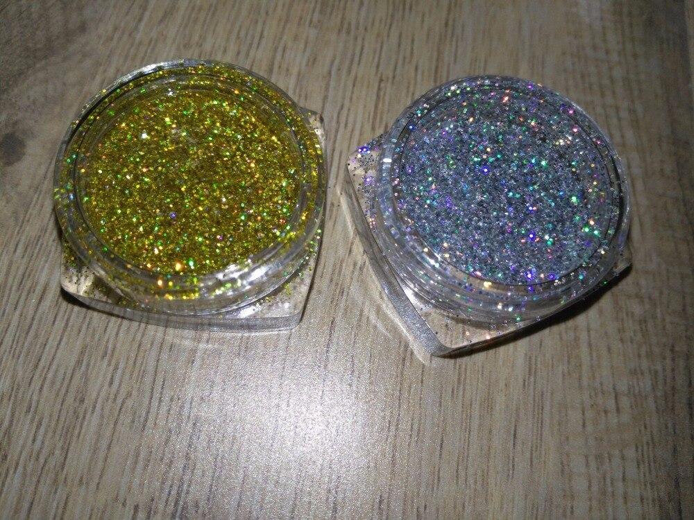 5 Gramm X 1/128 0,2mm Laser Silber Gold Glitters Holographische Glitter Staub Pulver Nägel Laser Glitter Pulver Nagel Glitters 5 Ml Rheuma Und ErkäLtung Lindern