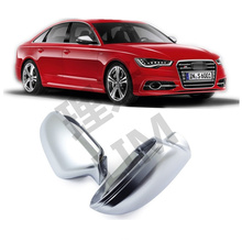 Купить с кэшбэком For Audi A6 C7 4G 2013 2014 2015 2016 ABS Matt Chromed Side Door Mirror Wing Mirror Cover Replacement Car Accessories