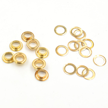 (200pieces/lot) inner diameter 6mm Copper eyelets. brass  hole. Rivets. Button. Snap. Clothing accessories
