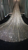 Modabelle Luxurious Wedding Veil Cathedral Shiny Sequins 3M/5 Star Starry Bride Wedding Long Tail Wholesale