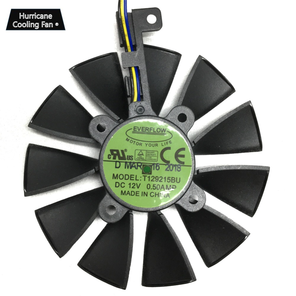 New 87MM T129215BU T129215SU Graphics Card Fan for ASUS ROG STRIX DUAL GTX 1070 GTX 1060 RX 470 570 580 RX570 RX580 RTX2060 in Fans Cooling from Computer Office