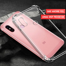 Capa de celular transparente, capa de airbag de cristal para xiaomi redmi note 7 5 6 pro 6a 5 plus xiaomi mi9se 8 a2 lite mi8 se mi6 mi6x mi5x