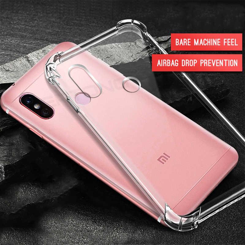 クリア電話ケース Xiaomi Redmi 注 7 5 6 プロ 6A 5 プラスクリスタルエアバッグカバー xiaomi Mi9se 8 A2 Lite Mi8 SE Mi6 Mi6X Mi5X