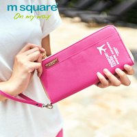 M Square Travel Card Holder Men Women Passport Cover ID Business Credit Card Wallet Organizer Purse Bag Case Passport Holders