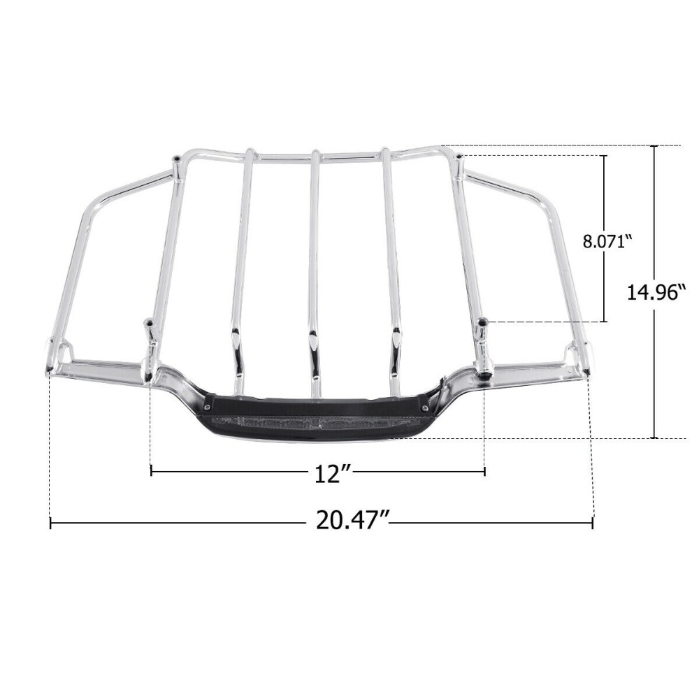 Tour Pak Pack Luggage Rack LED Lamp Fit For Harley Touring Road King glide Street Gilde 14 18 Black Chrome in Carrier Systems from Automobiles Motorcycles
