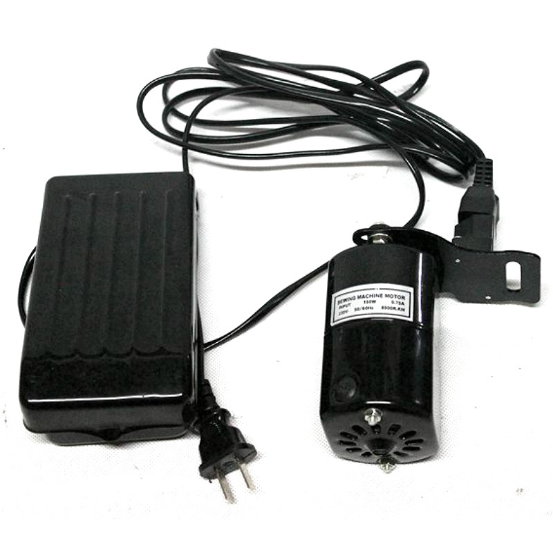 220V 180W 0.9A Quality Domestic Household Sewing Machine Motor 8000RPM + Foot Pedal Controller Speed Pedal