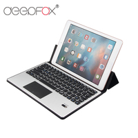 Deepfox Folding Bluetooth Keyboard Rechargeable Stand Function Keyboard For Under 10.1 Inch iPad Tablet
