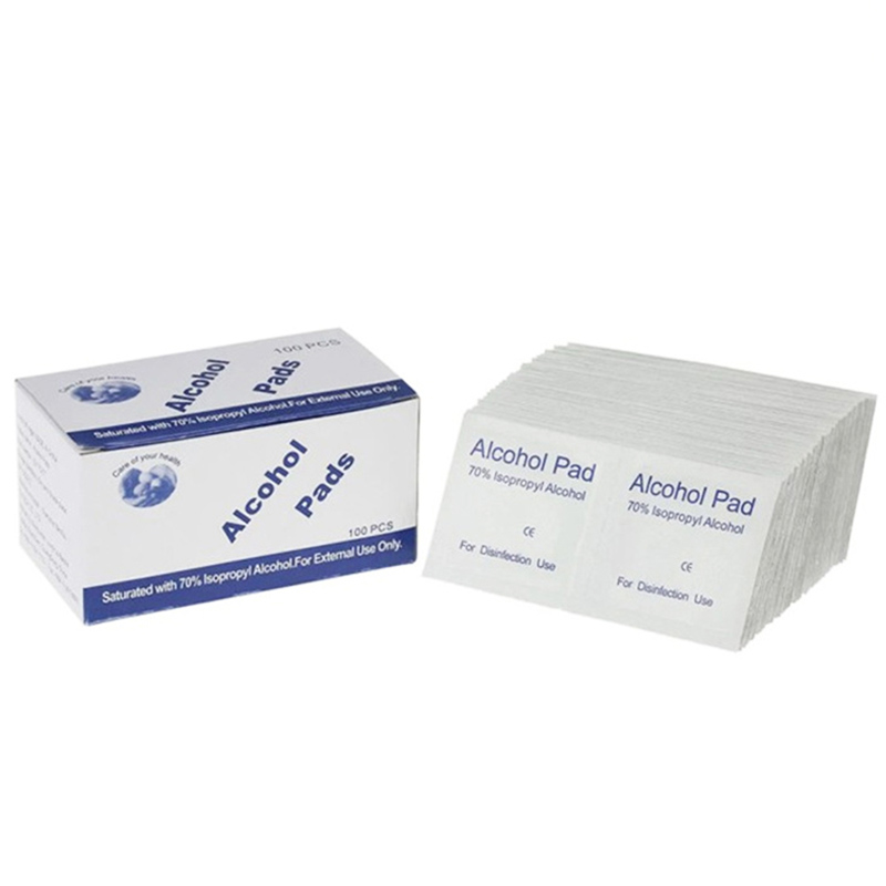 100Pcs/Lot Portable 100Pcs/Box 6 X 3Cm Alcohol Swabs Pads Wipes Antiseptic Cleanser Cleaning Sterilizations First Aid Home Mak