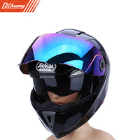 Full Face Motorcycle Helmet Dual Visor Street Bike With Colorful Shield