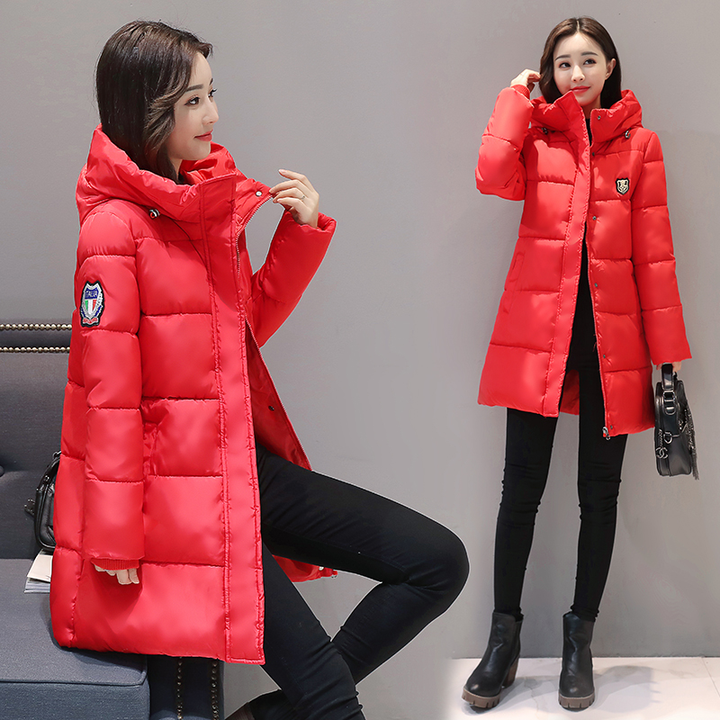 Jacket Women Outwear Hooded Long Parkas Loose-Style Thicken Warm Winter Plus-Size Bread