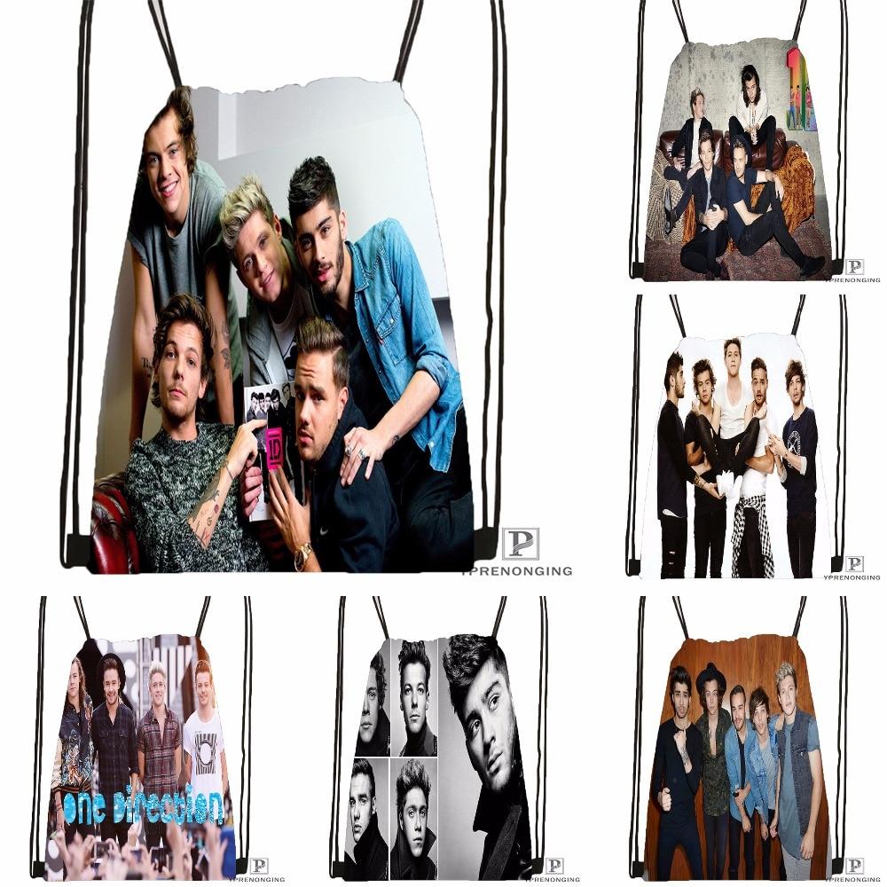 Custom One Direction@01 Drawstring Backpack Bag For Man Woman Cute Daypack Kids Satchel (Black Back) 31x40cm#180531-01-25