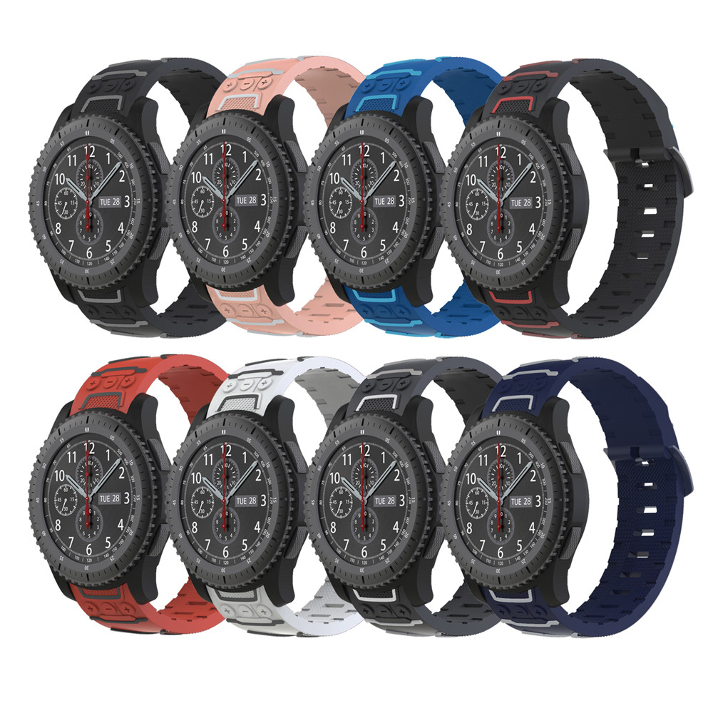Watch strap New Sports Silicone Accessory Band Bracelet Watchband For Samsung Gear S3 Frontier/Classic M.20 jansin 22mm watchband for garmin fenix 5 easy fit silicone replacement band sports silicone wristband for forerunner 935 gps
