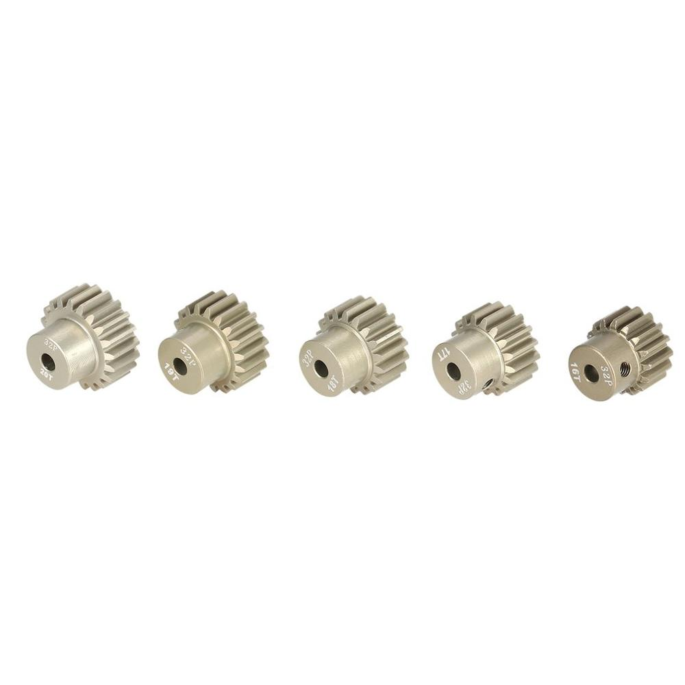 Image 5 - SURPASS HOBBY 5Pcs 32DP 3.175mm 12T 13T 14T 15T 16T 17T 18T 19T 20T Metal Pinion Motor Gear Set for 1/10 RC Car Truck-in Parts & Accessories from Toys & Hobbies