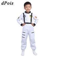 Girls Boys Dance Outfit for Kids Long Sleeve Romper Jumpsuit with Straps Set Astronaut Role Play Stage Performance Dance Costume(China)