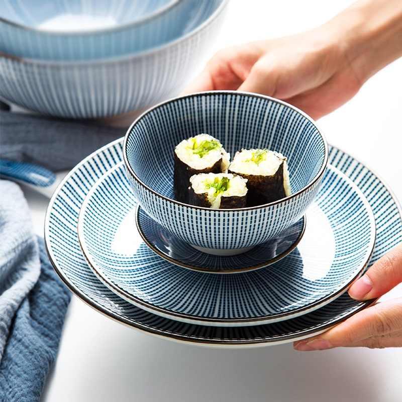 42 cái Nhật Bản dao kéo bộ sáng tạo và gió món ăn bát đĩa gốm món ăn cá tính bộ đồ ăn bát