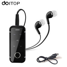 DOITOP i6s Mini Bluetooth Headset Wireless Heahphone Sport Earphone Stereo Music Earbud Collar Clip Handsfree With Mic Earpiece