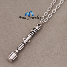 2014new Doctor Who 10th Doctor Sonic Screwdriver Charmed Interpreted Pendant & Necklace XL236(China)