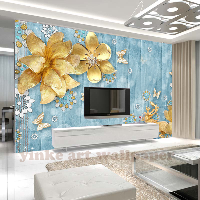 Custom Wall Mural Wallpaper Mediterranean European Style Hand