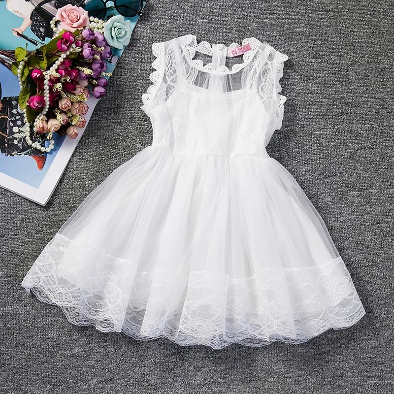Fancy Baby Girl Dress White Beautiful Lace Christening