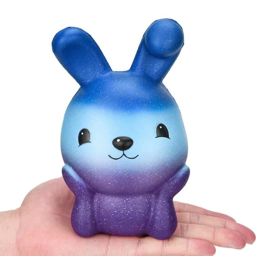 Anti-stress Squishy Toy Slow Rising Kawaii Finger Easter Galaxy Bunny Ice-cream Animal Jumbo Phone Strap Squishi Squeeze Toy 30#