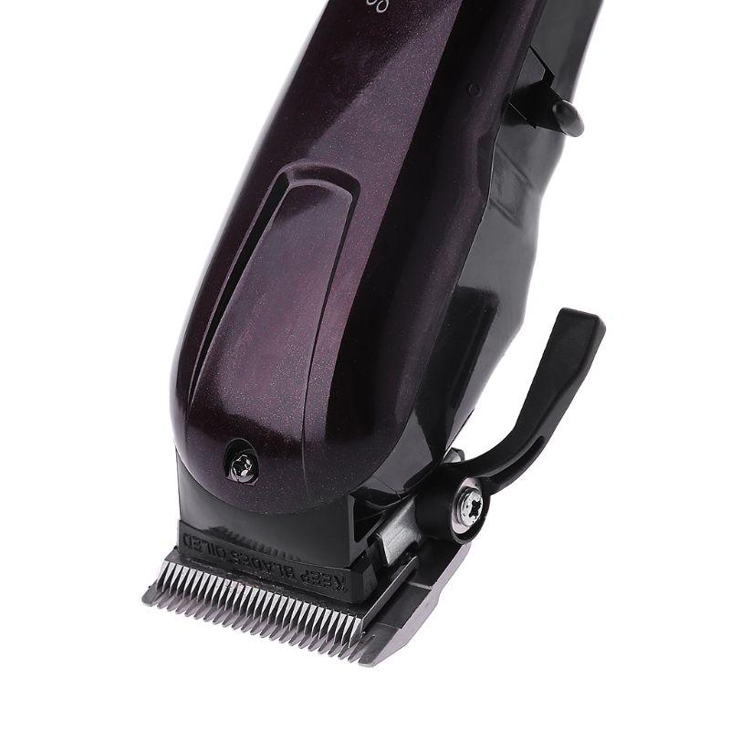 recarregavel aparador cabelo profissional barbeador navalha sem fio ajustavel clipper km 2600 03