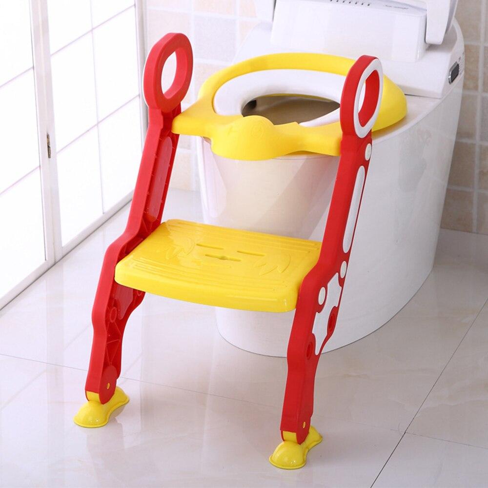 Children Potty Training Seat Baby Toilet Portable Potty Seat Adjustable Ladder Infant Step Stool Folding Seat Pot For Children
