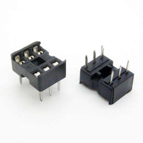 20PCS IC Socket Adaptor PCB Solder Type DIP Socket 6p 6-pin 6 Pin DIY
