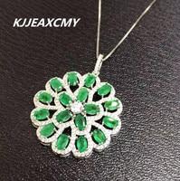 Kjjeaxcmy ювелирный бутик, 925 покрытием белый природный изумруд кулон, дамы кулон, подарок на день рождения