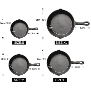 Image 2 - UPSPIRIT Cast Iron Non stick 14 20CM Skillet Frying Pan for Gas Induction Cooker Egg Pancake Pot Kitchen&Dining Tools Cookware