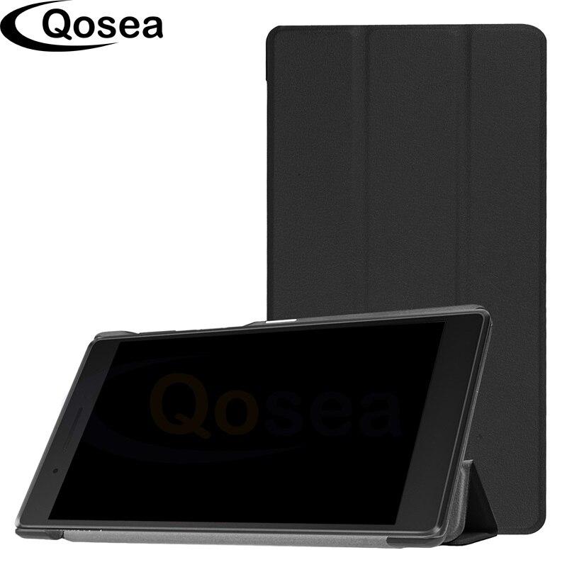 Qosea Pour Lenovo Tab4 7 Essentiel TB-7304F 7304I 7304X2017 PU Smart Cas de Stand Pour Lenovo Tab 7 Essentiel Tablet PC Stand couverture