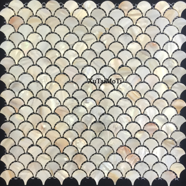 natural fish scale shell mosaic mother of pearl tiles decoration wall bathroom kitchen backsplash shower floor wallpaper tile