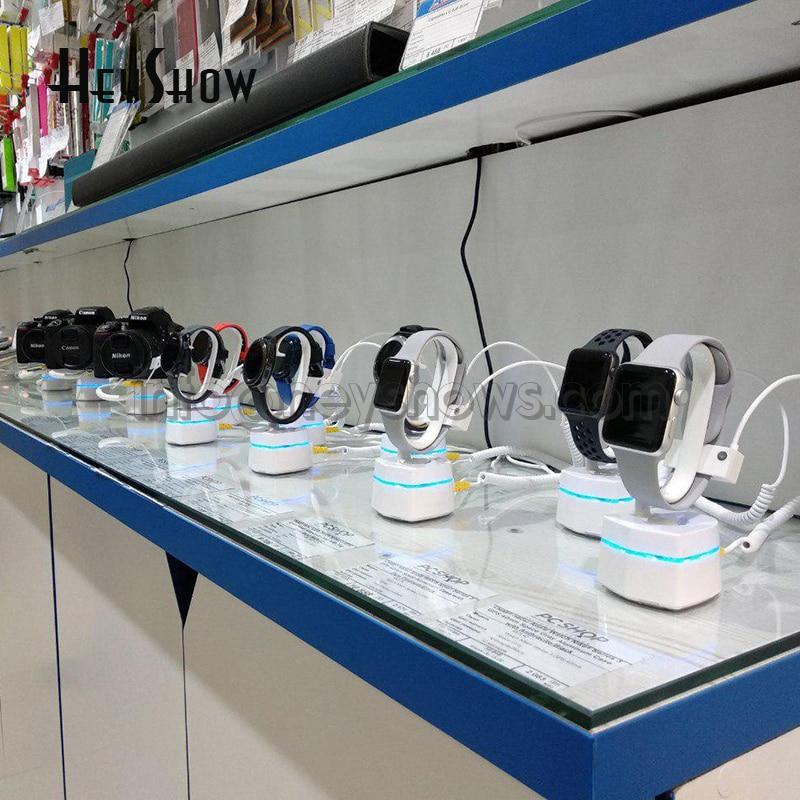 5 pcs assista display stand iwatch relogio sony anti roubo de alarme contra roubo de seguranca