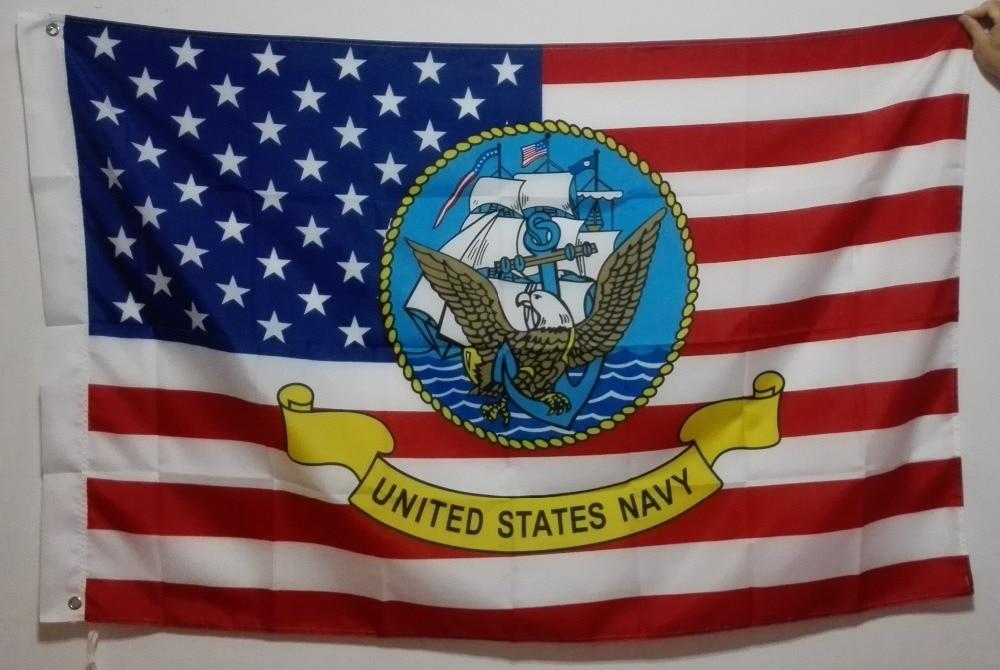 Navio da Marinha dos Estados Unidos Emblema Bandeira produtos de - Decoração de casa