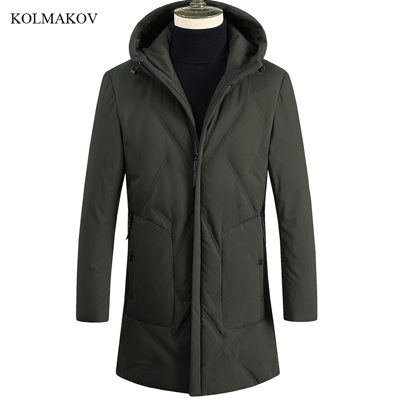 New Arrival Winter Style Men Boutique Leisure   Down     Coats   Business Casual Hooded Solid Slim Thick Warm Long   Down     Coat   Size M-3XL