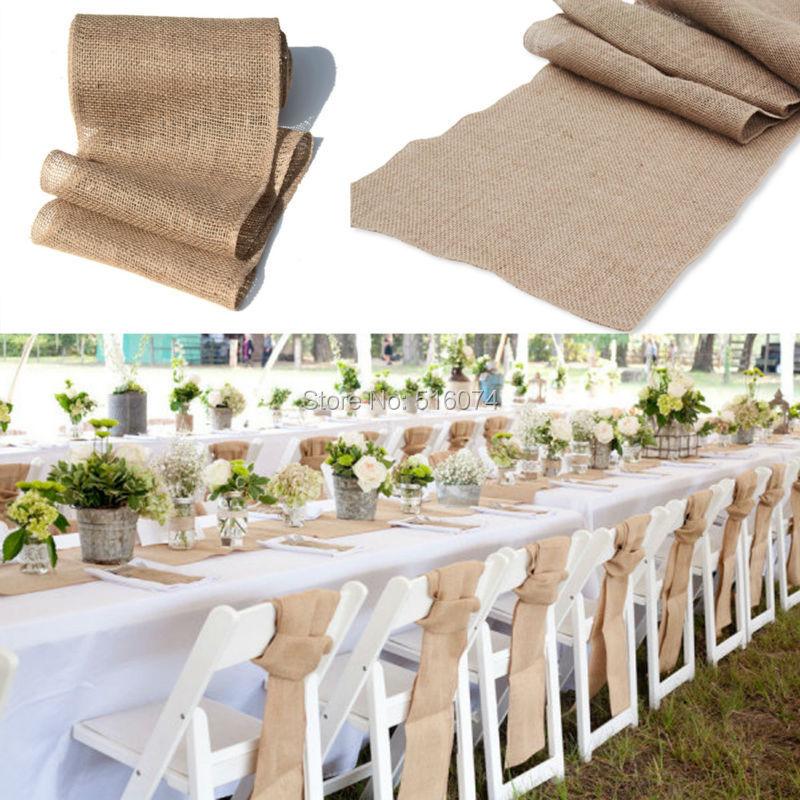 Shabby Chic Wedding Table Decorations: Free Shipping 5pcs 30x275cm Shabby Chic Wedding Burlap