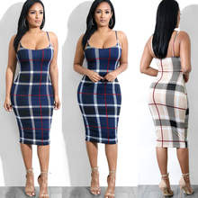 2019 Autumn Dress Fall Dresses For Women sleeveless Sexy Striped  Loose Casual Midi Vintage Party