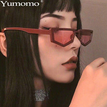 New Polygon Small Frame Sunglasses Women Pink Brown Classic Vintage Shape Flat Top Personality Leopard Frame De Sol Gafas UV400 цена 2017