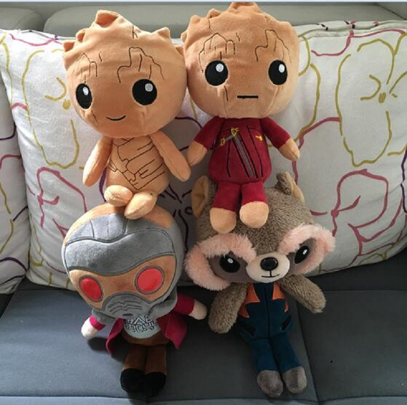 4pcs/lot Guardians of the Galaxy 2 Plush Toys 22cm Ents Baby Tree Man Rocket Raccoon Soft Plush Doll Kids Children Stuffed Gifts