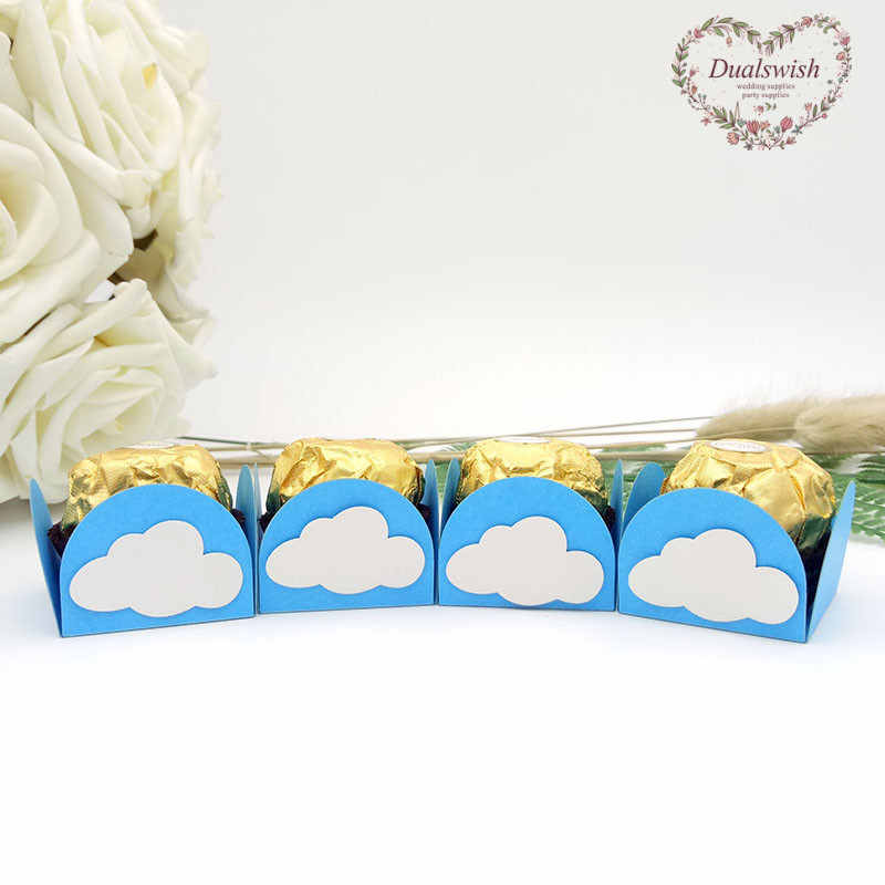 Home & Garden Dualswish 50pcs Blue Sky And White Cloud Diy Design Chocolate Wrappers Candy Bar Candy Cups Baby Shower Decors Kids Party Favors Careful Calculation And Strict Budgeting Festive & Party Supplies