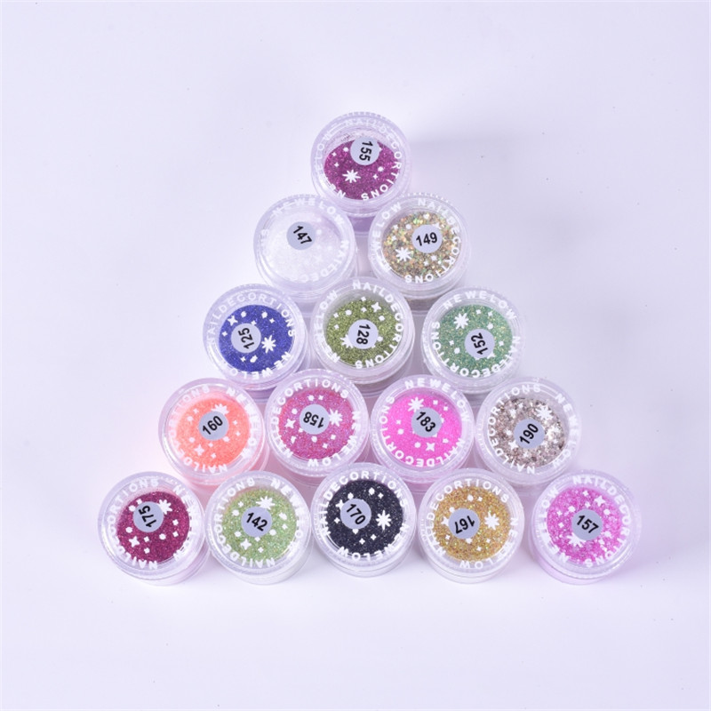 10ml/jars AB Colorful Nail Sequins Flakes UV Gel Polish Nail Glitter Flakes Holographic Pigment Nail Art Decoration