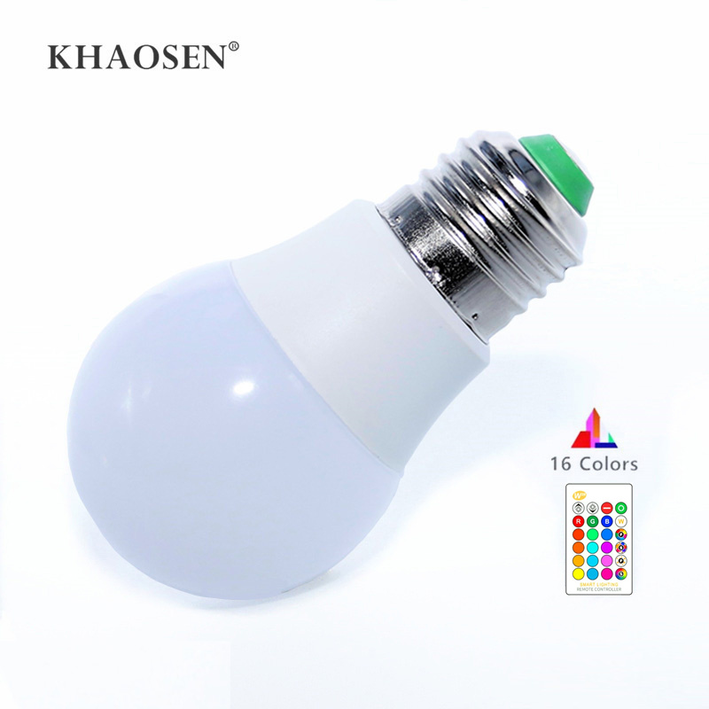 LED RGB Bulb Light E27 B22 RGB LED Lamp 5W 10W 15W 85-265V 110V 220V + IR Remote Control 16 Color Change Christmas Lampada LED