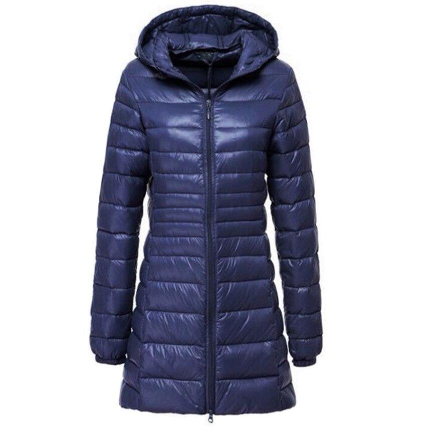 Zima kobiety w dół kurtka Ultra Light Down 90% biała kaczka dół płaszcz kurtki Panie hooded dół Parkas jakości marki wiosna jesień
