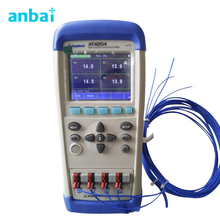 Sale TFT-LCD True-color LCD Display 4 Channels Handheld Multi-channel Temperature Meter Tester AT4204