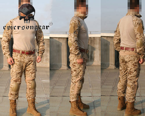Emerson Wearable Military Combat Tactical Training Uniform Shirt Pants Elbow Knee Pad Suit Outdoor Hunting Shooting Clothing Set hot sale gen2 official tactical military training uniform combat clothing pant