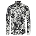 Camisa para hombre 2016 Camisas moda de manga larga personalizado impresión Camisetas nueva marca Chemise Homme hombres delgada Masculina camisa 3XL