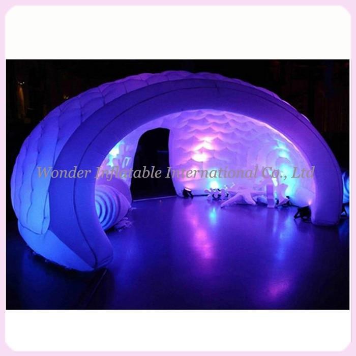 2017 najnovejši napihljivi šotor z napihljivimi letali napihljivi igloo kupola marquee kupola šotor bar šotor z LED za najem za poročne zabave