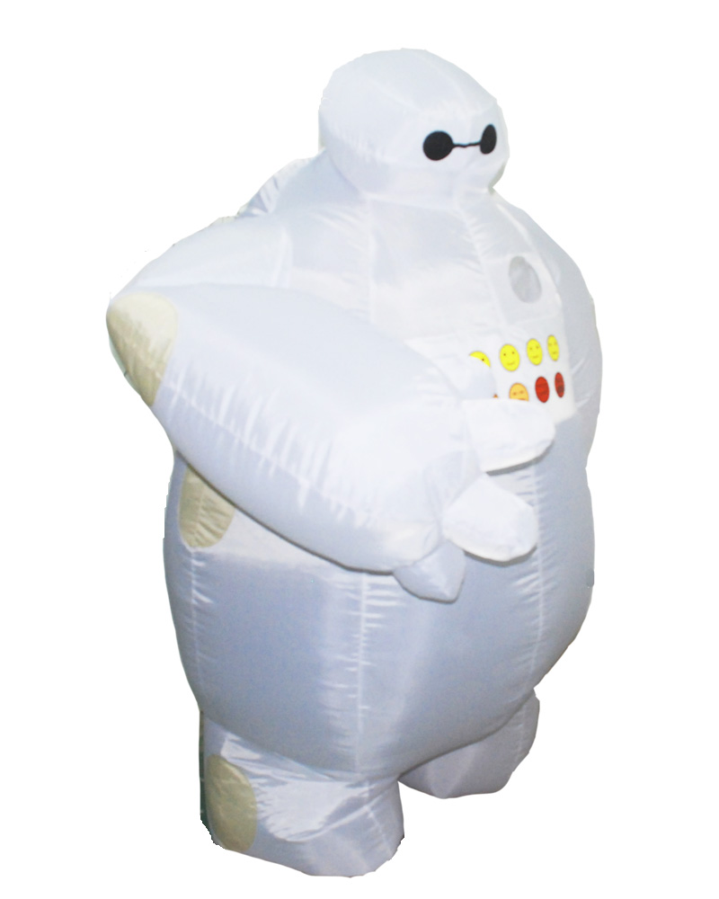 Home Halloween Big Hero 6 Inflatable Baymax Costume For Women And Men Adult Cosplay Fancy Dress Baymax Disfraces Mascot Costume To Help Digest Greasy Food