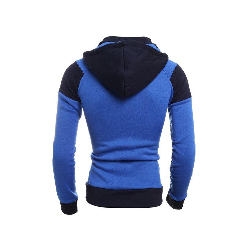 IceLion 2020 Autumn Hoodies Men Patchwork Zipper Cardigan Sweatshirts Slim Fit Sportswear Fashion Casual Tracksuit 4