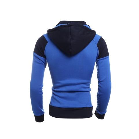 IceLion 2019 Autumn Hoodies Men Patchwork Zipper Cardigan Sweatshirts Slim Fit Sportswear Fashion Casual Tracksuit Dropshipping Multan